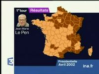 Carte de France du vote FN au premier tour de la présidentielle