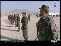 Renforcement du contingent francais en Afghanistan : securisation et instruction