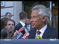 Clearstream: fin de l'audition de Dominique de Villepin