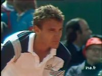 Tennis. Internationaux de France : Roland Garros. Finale messieurs Lendl-Wilander