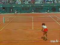 Tennis. Internationaux de France : Roland Garros. Finale dames Evert-Ruzici