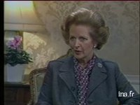 Londres : interview Margaret Thatcher
