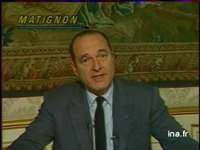 Chirac : Mesures gouvernementales Education