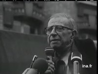 Jean Paul Sartre à Billancourt