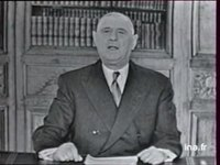 ALLOCUTION DU GENERAL DE GAULLE DU 19/04/1963