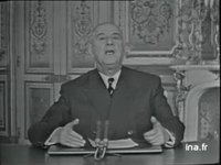 ALLOCUTION DU GENERAL DE GAULLE