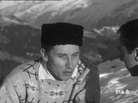 Jacques Anquetil interviewé à Saint-Gervais où il se repose