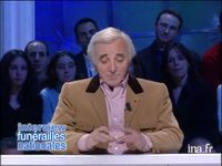 Interview Funérailles Nationales Charles Aznavour