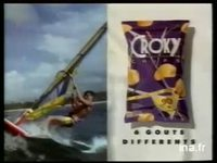 CROKY CHIPS / KP FOODS EUROPE'S NO 1 EN SNACKS : GATEAU CHIPS APERITIFS 6 GOUTS DIFFERENTS GAMME