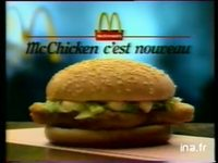 MAC MC DONALD'S : FAST FOOD ( LANCEMENT MC CHICKEN )