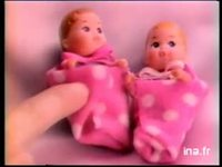 MATTEL BARBIE SKIPPER ET COURTNEY : JOUET POUPEE MANNEQUIN BEBE