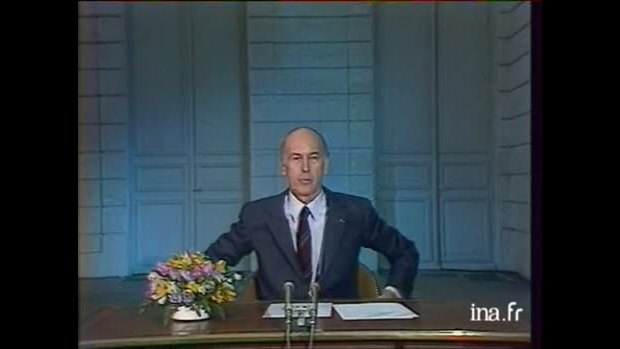 video giscard au revoir